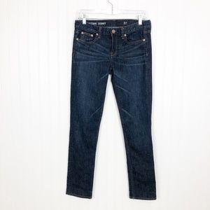 J. Crew Downtown Skinny Jeans Dark Wash Stretch 27
